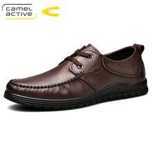 Camel Active Sapatos Novos Homens Marca de luxo de Couro Genuíno Oxfords Sapatos Casuais Condução Mocassins Homens Mocassins Sapatos para Homens Flats