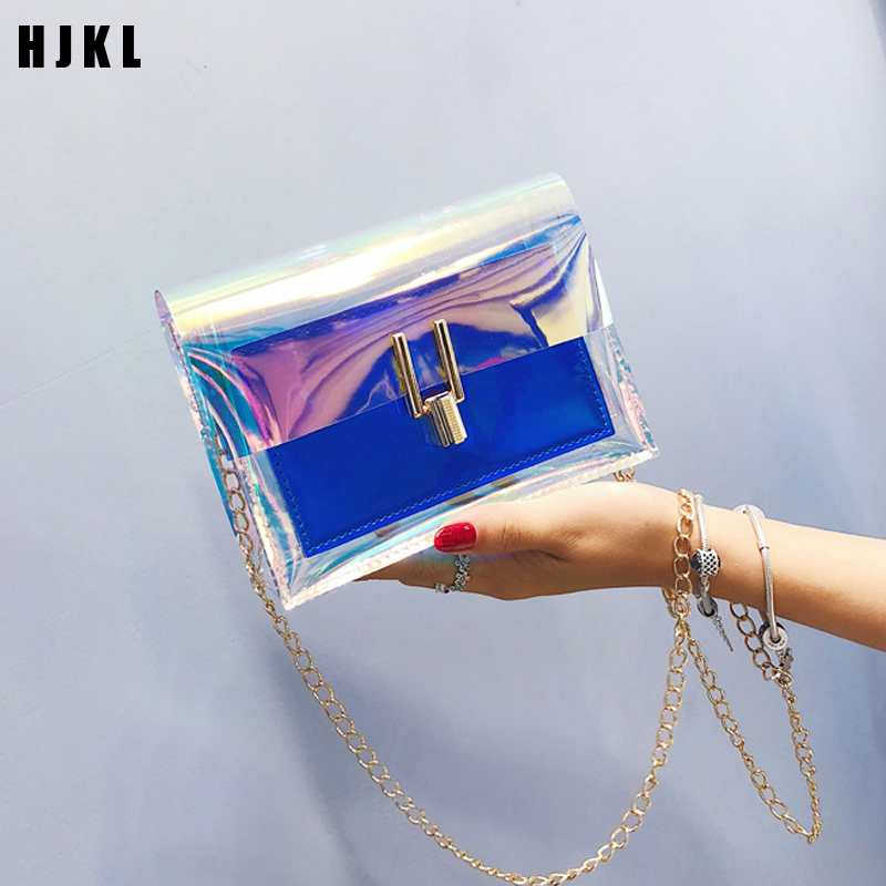 2019 Laser Transparent BagsCrossbody Bags For Women Fashion Women Korean Style Shoulder Bag Messenger PVC Waterproof Beach Bag