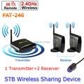 1 Transmissor 2 Receptor PAT-246 Inteligente 2.4 GHz Sem Fio 250 m AV TV Remetente sem fio ir extender remoto Para HDTV 8 canal