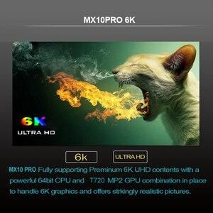 Image 4 - Caixa de tv mx10 pro android 9.0, reprodutor de mídia allwinner h6, com 4gb/32gb 2.4g wifi usb3.0 h.265 vp9 mx10pro conjunto caixa superior