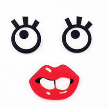 Free Shipping 1PCS Funny Eyes Sexy Lips Character Icon Badge on Backpack Brooch Pins For diy Clothing hat shoes Acrylic Badges(China)