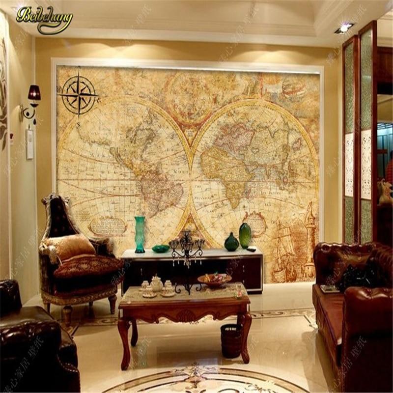 Beibehang Grand Papier Peint Western Palace Ancienne Carte Europe