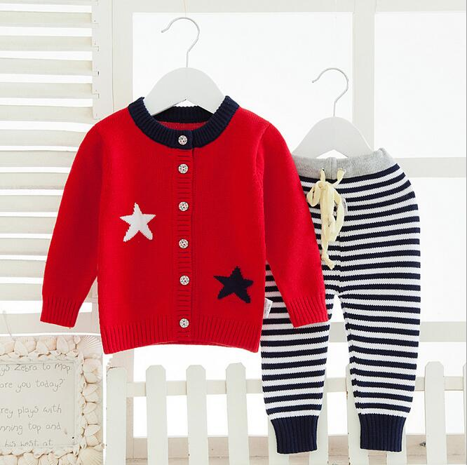 ФОТО Jackets Sweater Cardigan Girls Kids Sweat shirt+Pants Clothes Set Long Sleeve Baby Sweater Baby Knitted coat baby Baby Clothing