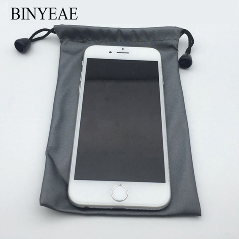 20cm*10cm Phone nylon Pouch For Micromax Canvas Win W121 W092/Entice A105 Portable Waterproof Drawstring Storage Bag