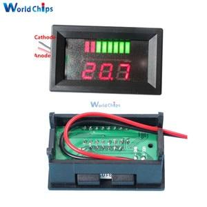 Indicador LED rojo de batería de plomo-ácido 6 V/12 V/36 V/48 V comprobador de ácido de capacidad del voltímetro indicador de nivel de carga para Arduino