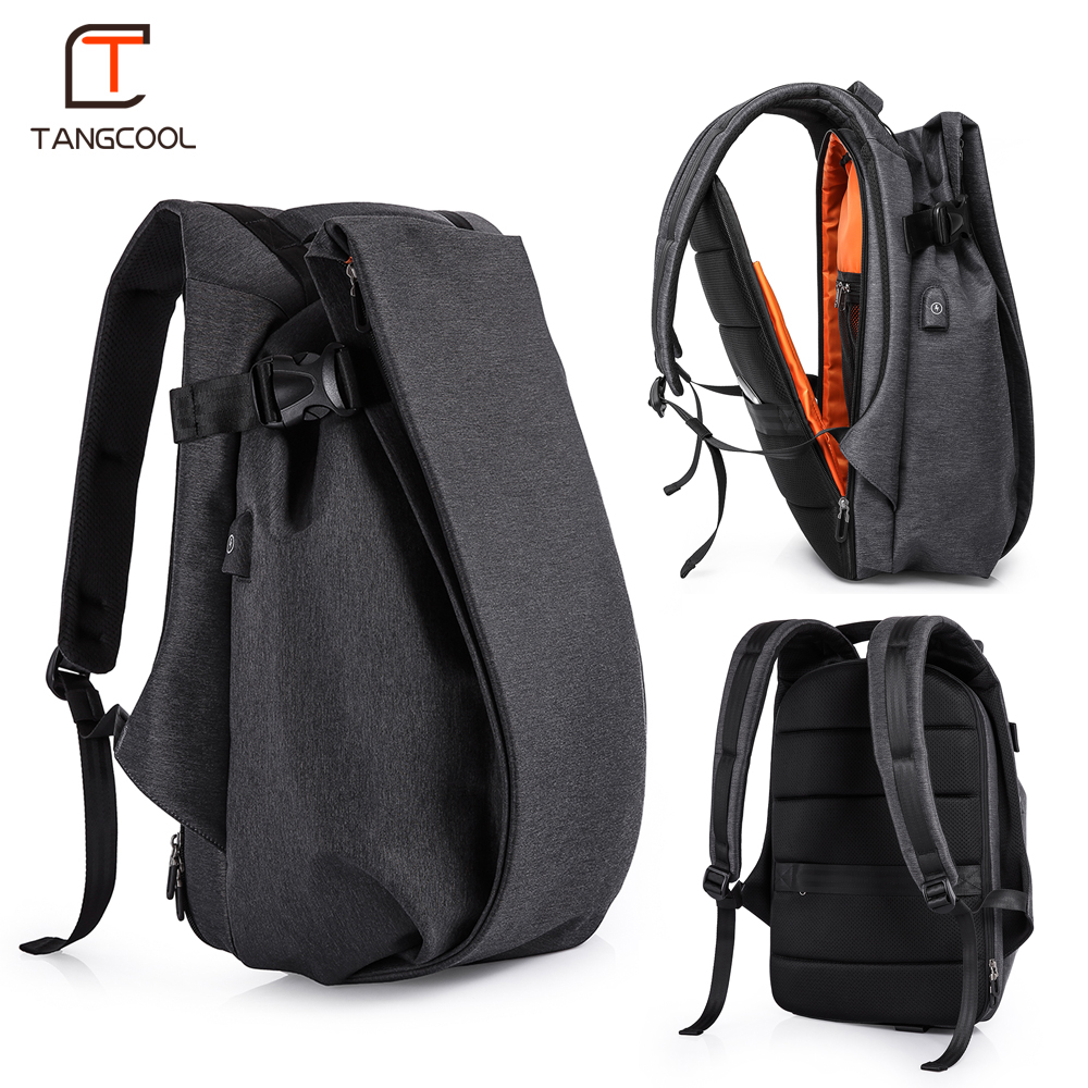 Tangcool Fashion Men Backpack for Laptop 17.3USB Port Waterproof Travel Backpack Large Capacity College Student School Backpack waterproof lightweight stylish classical school backpack pure color fashion laptop backpack with usb charge port