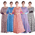 Muslim Women Dress Turkish women clothing Fashion Distinctive Floral Print dresses Jilbabs and abayas islamic clothing for lady