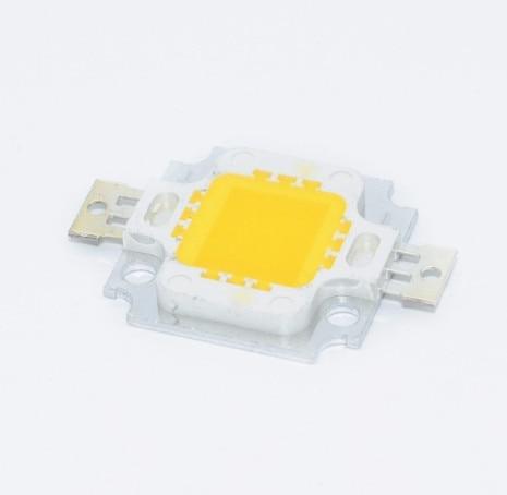 10PCS 10W LED Warm White 800-900LM LED SMD Lamp Light Daylight White High Power LED 6000-6500K 12V 600MA