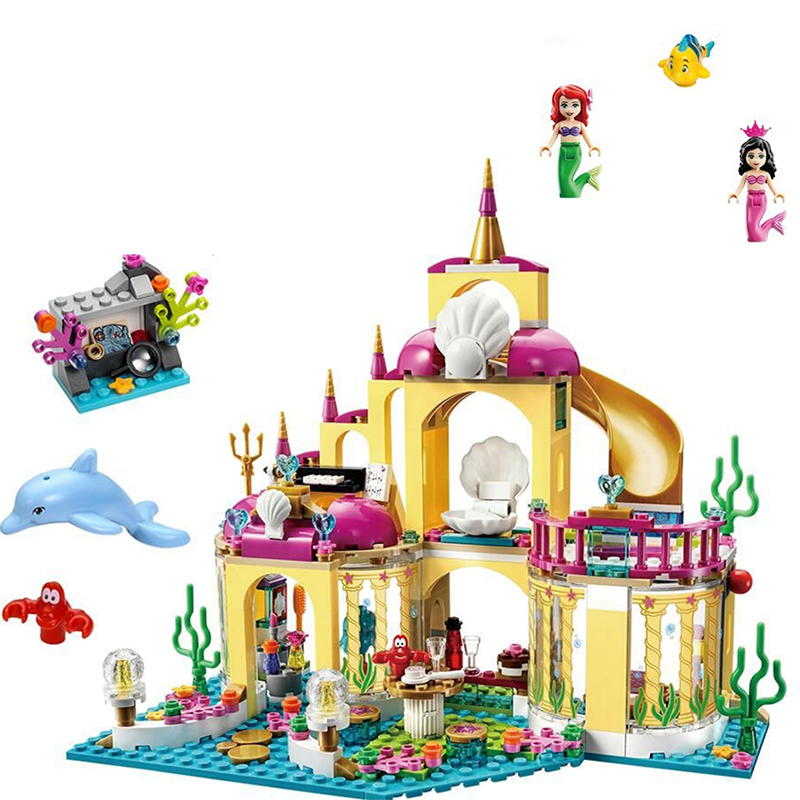 NEW JG306 Mermaid Princess Undersea Palace castle Minifigure Building font b Blocks b font Bricks Kits