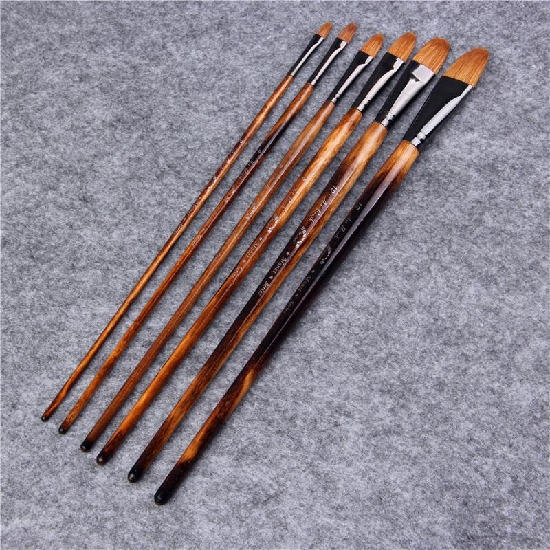 6pcs/Set Water Color Paint Oil Paint Brush Acrylics  Drawing Brush Art Supplies Paint Brushes for Artist 3