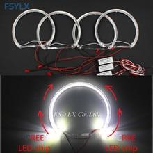цена на New Guide light LED angel Eyes for BMW E36 E38 E49 E46 Projector Car LED halo ring SMD CreesLED LED angel Eyes for BMW