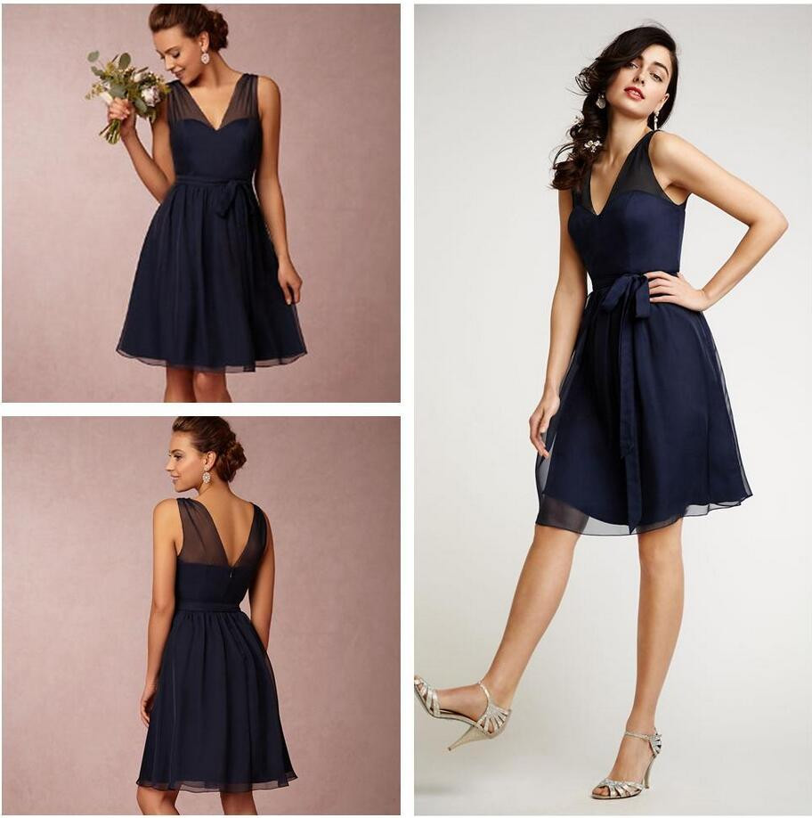 Short bridesmaid dresses navy blue size bridesmaids dress for Navy blue dresses for weddings