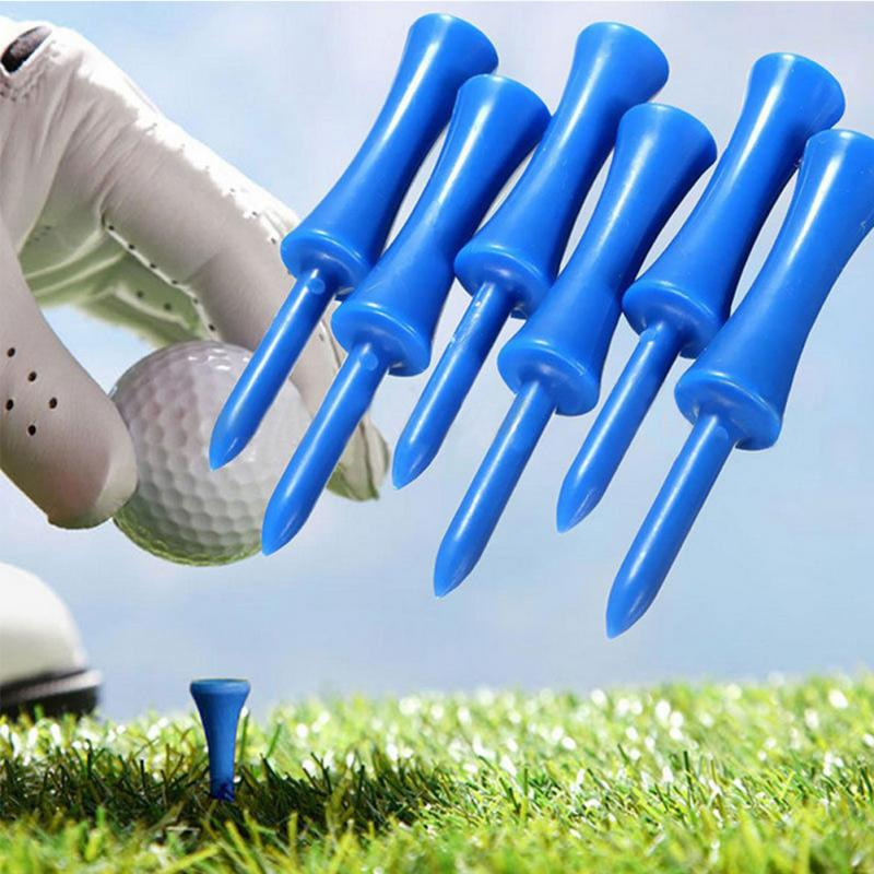 50 Pcs/bag New Plastic Tee Golf Accessories Plastic Golf Tees 68mm Durable Rubber Cushion Top Golf Tee Golf Accessories