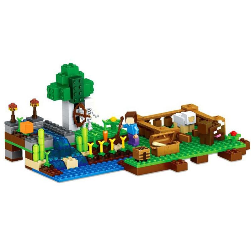 LELE 79044 262Pcs MY World Farm steve zombie Building Blocks Compatible 21114 Bela 10175 Kids DIY Bricks Toy
