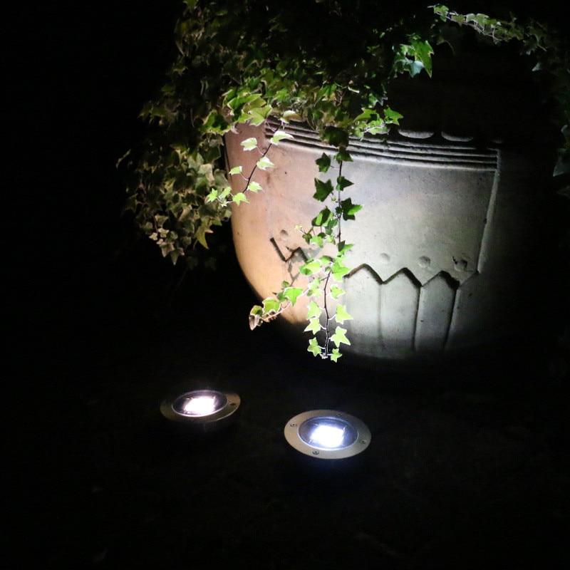Solar Powered Disk Lights Solar Pathway Lights Outdoor Waterproof Garden Landscape Lighting for Yard Deck Lawn Patio Walkway in LED Underground Lamps from Lights Lighting