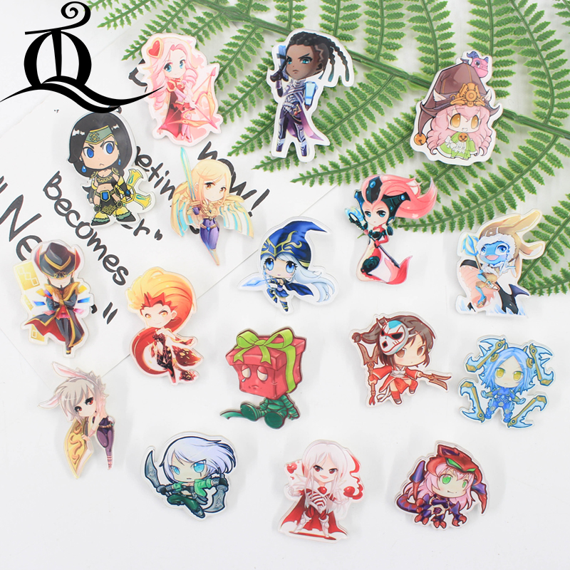 Jl 1pcs Mix Lol Girl Cartoon Icons On The Pin Kawaii Icon Badge Bacges On Backpack Badges For Clothing Acrylic Badges Z23 Easy To Use Badges