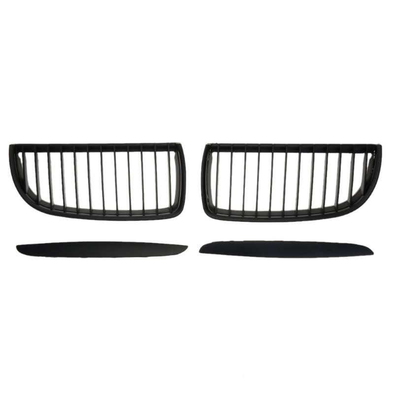 2pcs/set Matte Black Car Front Kidney Grilles for BMW E90 318 320i 325i 330i 04-07 Car Exterior Replacement Racing Grills 1 pair gloss black front kidney grilles grill car styling racing grills replacement grilles for bmw f30 f31 f35 320i 2012