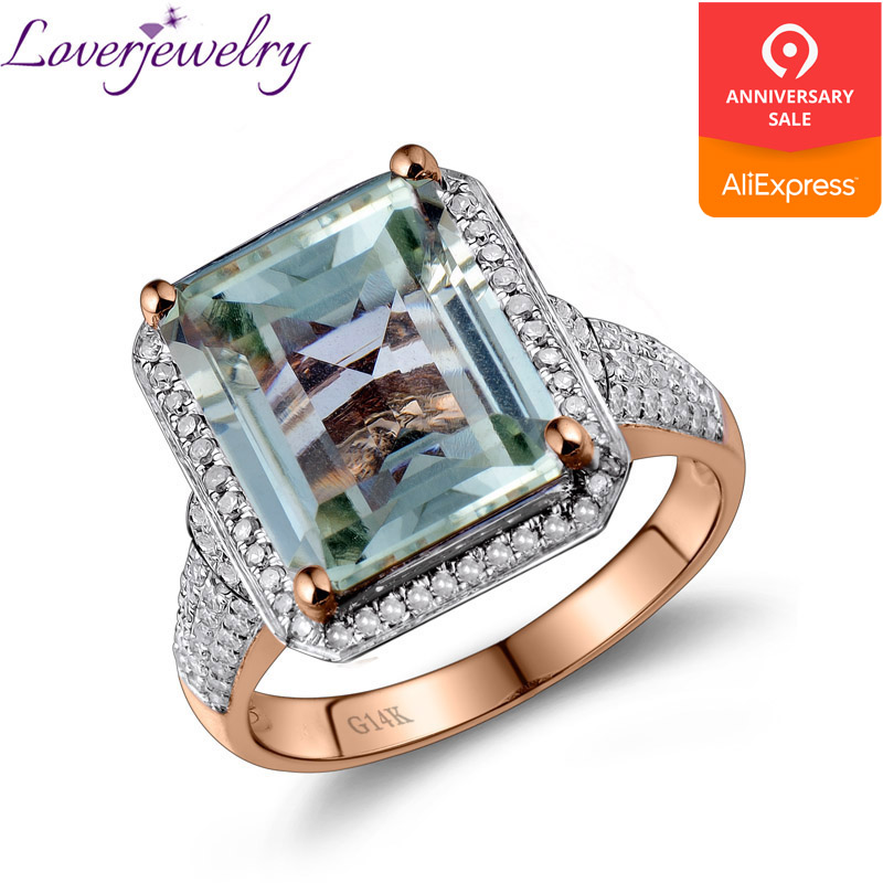 LOVERJEWELRY <b>Ring</b> For Women <b>Emerald</b> Cut <b>Green Gemstone</b> ...