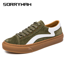 2019 New Men Shoes Men Casual Leather Shoes Fashion Lace Up Sneakers Summer Breathable Men Flats Shoes Male Footwear