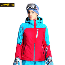 WHS Nouveau femmes ski vestes d'hiver sport En Plein Air veste De Ski imperméable femelle épais chaud ski manteau vêtements de ski respirant