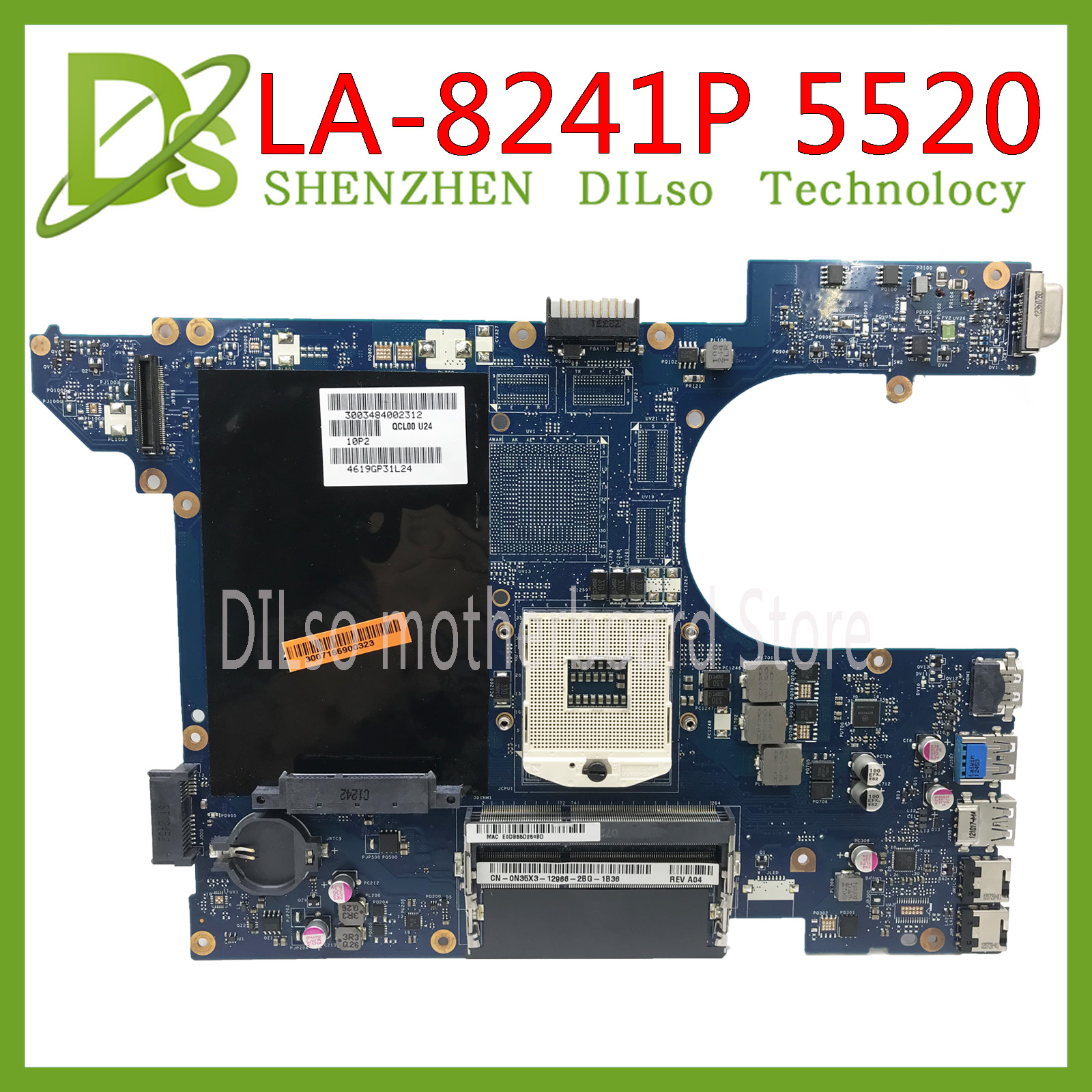 KEFU QCL00 LA-8241P Motherboar For Dell Inspiron 15R 5520 7520 Laptop Motherboard 5520 Original Motherboard Tested 100% Work