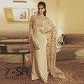 Abendkleider Индийского Сари Арабский Женщины Платье 2016 Высокая Шея Русалка Индийские Платья Выпускного Вечера Дубай Кафтан Платья Знаменитостей