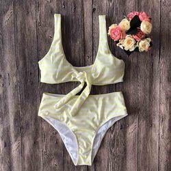 Średniej zwężone Bikini Push Up Bikini zestaw z paskiem stroje kąpielowe kobiety Sexy strój kąpielowy kobiet druku Buquini Plus rozmiar SwimmingSuit AA328 1