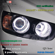 Hireno Headlamp For 2017 Chevrolet Aveo Headlight Embly Led Drl Angel Lens Double Beam