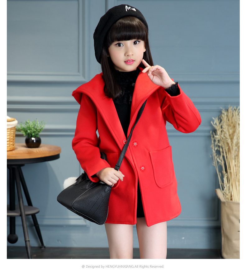 High-quality 2016 children's clothing for girls woolen coat jacket/long section of woolen coat for girls fall and winter clothes winter lace lady long woolen coat for bjd doll sdgr sd10 sd13 dd clothes 1 3 sd clothing cw27