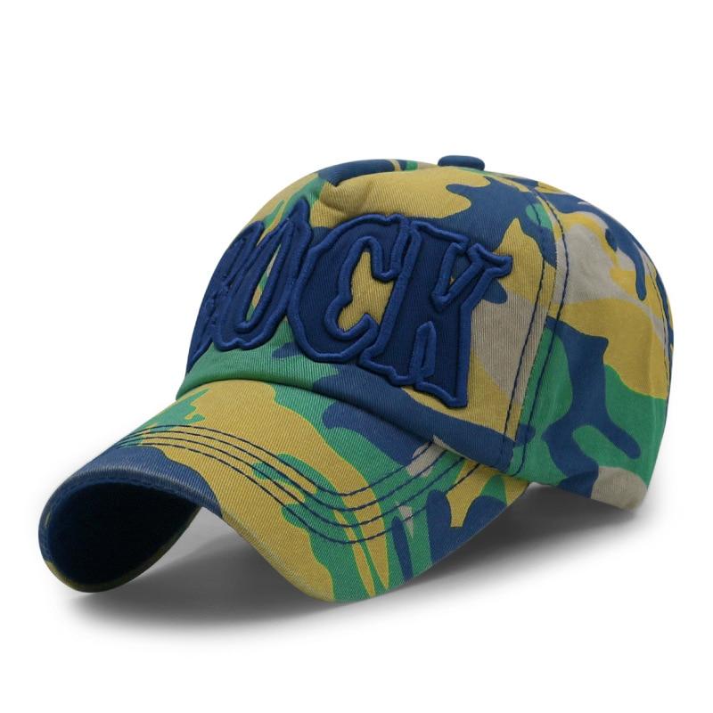 Nová maskovací výšivka baseballová čepice příležitostné mužské a ženské bavlněné čepice módní dopis nastavitelný hledí