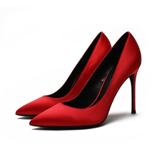 Hot Sale Brand Design Ladies Office Shoes Autumn High Heels Womens Classic Pointed Toe Pumps Fashion Party Wedding F0076