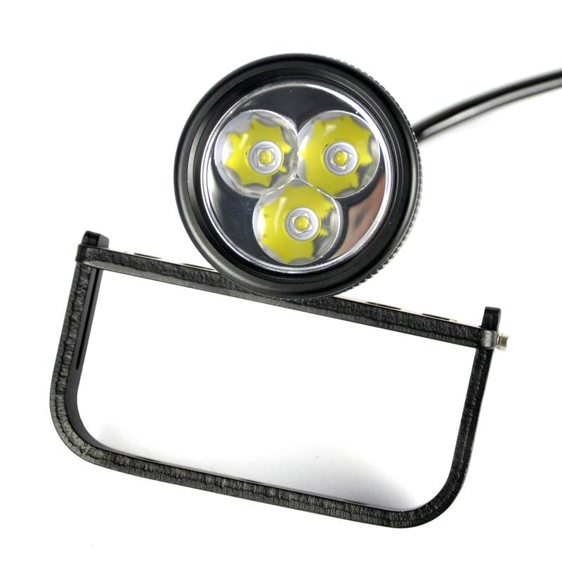 Image 3 - BORUIT LED Xml U2 Professional Scuba Flashlight Diving Torch div10 Underwater Lamp Light Lantern Diving Equipment Accessories-in LED Flashlights from Lights & Lighting