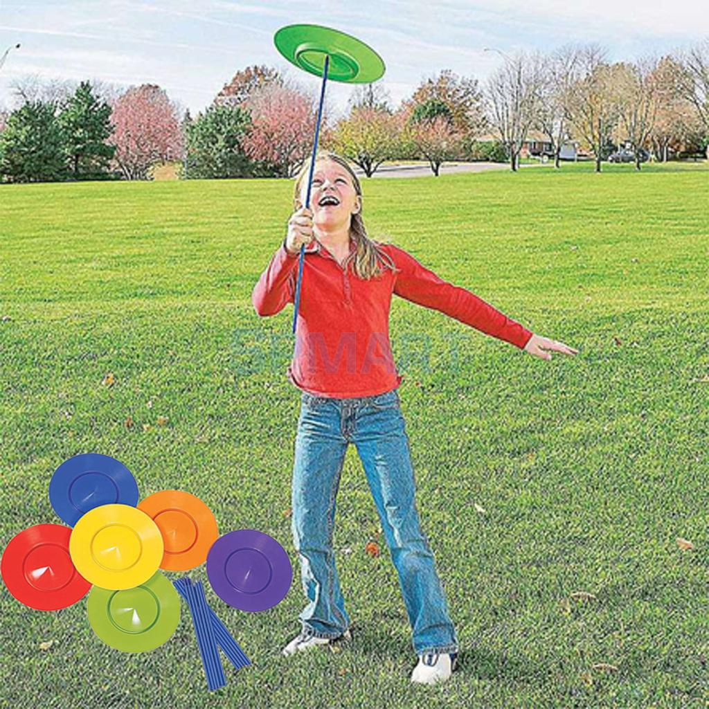 6 Sets Plastic Spinning Plate Juggling Props Performance Tools Kids Children Practicing Balance