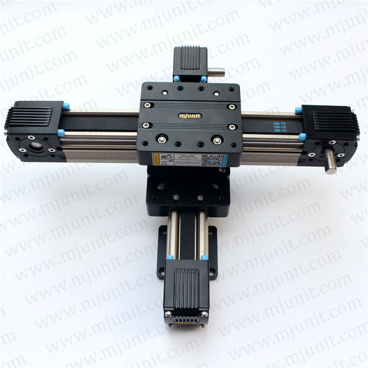 MJUNIT Professional Manufacturer High Precision aluminum rail belt drive linear rail high rigidity roller type wheel linear rail smooth motion belt drive guide guideway manufacturer