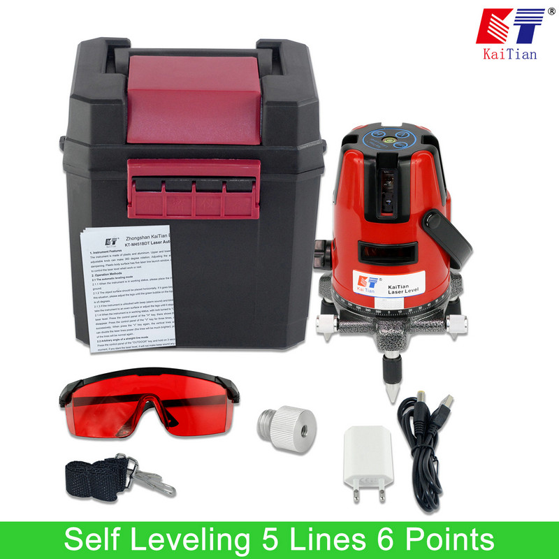 ФОТО KaiTian Laser Level 5 Lines 6 Points 1/4