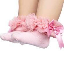 Infant Socks Baby Girl Wedding Party Flower Bow Warm Spring Autumn Fashion 2018 Newborn Cotton