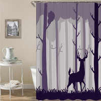 New Colorful Eco friendly Cartoon Animals Shower Curtains Sets Polyester High Quality Washable Home Decor Bathroom Curtains Shower Curtains     -