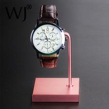 Retailer Dealer Metal Jewelry Watch Display Stand with Acrylic Wrist Watch Storage Holder Rose-gold / Black Rack Table Organizer