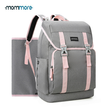 mommore Unisex Diaper Nappy Bag Large Capacity Brand Baby Travel Maternity Backpacks Waterproof Backpack for Mom/Dad