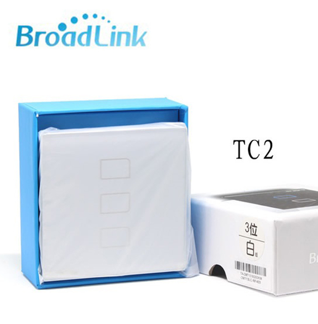 Умный Дом BroadLink TC2-3 ган РФ 433 МГц Стене Выключатель Света Wireless Control By e-control одноместный жить провод связи