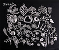 100 pçs/lote Mista de prata Antigo Banhado Pulseiras Europeus Pingentes Charme Bijuterias Fazendo Descobertas Encantos DIY Handmade 715