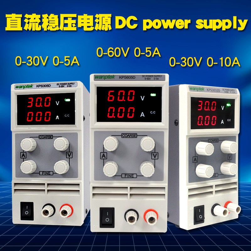 Mini laboratory power supply 60V 5A Single phase adjustable SMPS Digital voltage regulator 0.1V 0.01A DC power supply 30V 5A/10A rps6005c 2 dc power supply 4 digital display high precision dc voltage supply 60v 5a linear power supply maintenance