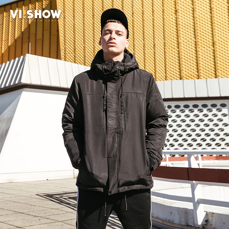 VIISHOW Winter Down Jacket Men New 75% White Duck Down Coat Hooded Top quality Brand Clothing Long Male Down Parkas YC2102174 new winter hooded jacket men brand clothing male cotton autumn coat new top quality black long parkas men