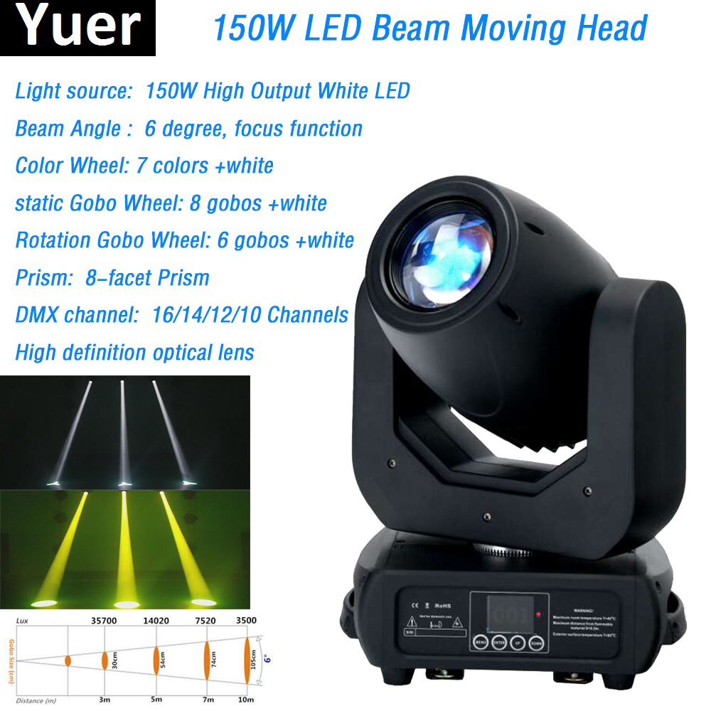 150W led beam Moving Head Light For DJ Stage Party Concert Zoom function dmx stage light led moving head spot light disco light