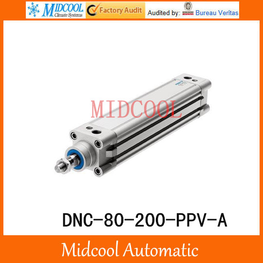 DNC-80-200-PPV-A Pneumatic Cylinder DNC series Standard Cylinder Double Acting FESTO Type high quality double acting pneumatic gripper mhy2 25d smc type 180 degree angular style air cylinder aluminium clamps