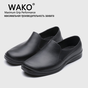 Image 1 - WAKO 2016 Hot Free Shipping Men Casual Flat Shoes EVA Chef Working shoes Kitchen Work Black Shoe Surgical Shoes Skid Oil proof