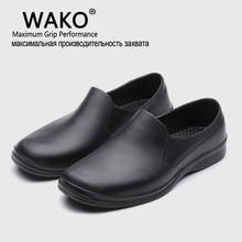 Wako 2016 quente frete grátis masculino casual sapatos planos eva chef trabalhando sapatos de cozinha trabalho sapato preto sapatos cirúrgicos skid à prova de óleo