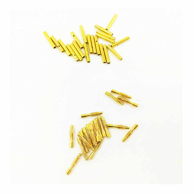 20 пар 2 мм типа Пуля банан Разъем 2,0 мм Мужской Женский для RC батареи Позолоченный