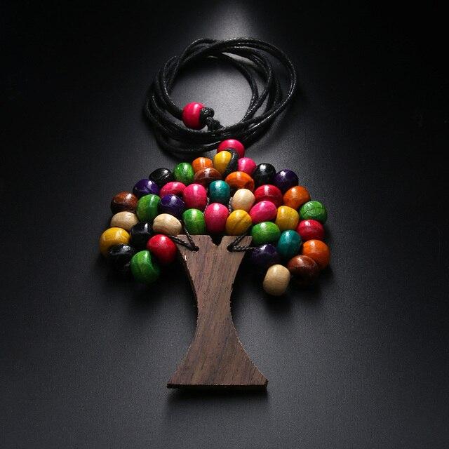 Preferenza 1 PZ Handmade Albero Della Vita Arcobaleno Perline di Legno  PK71