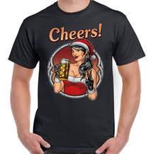 Сексуальная мужская смешная Рождественская футболка с Санта